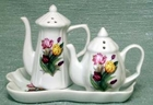 Fielder Keepsakes Tulip - Salt n Pepper Shakers with Tray