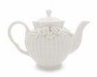 Fine Porcelain Crafted Rose Teapot