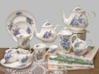 Forget Me Not Heirloom Bone China Tea Set  - Service for 4