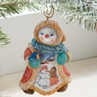 "G. Debrekht ""Snowyday Snowwoman""  Ornament for Lenox"