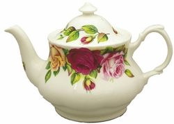 Garden Rose Bone China Teapot from Roy Kirkham-