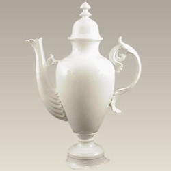 "Giant Display / Porcelain Decorator Teapot - 32"" Tall"