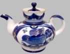 """Goldfinch"" Russian Porcelain Teapot - 10 Ounce"