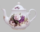 Heirloom Honeysuckle and Lavender Rose Teapot
