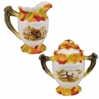 The Hunting Harvest Sugar & Creamer Set by Kaldun & Bogle