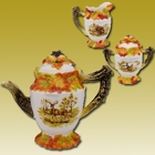 Hunting Harvest Tea Set by Kaldun and Bogle