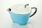 Inside Out Heart Teapot - Turquoise Blue
