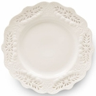 Laced Creamware Dessert Plates - Set of 4