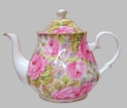 Lady Di Chintz Heirloom Bone China Teapot - 6 Cup
