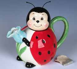 Ladybug  Ceramic Teapot  - 42 Ounces DISCONTINUED