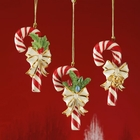 Lenox Candy Cane Ornaments - 3 Piece Set