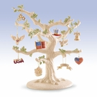 Lenox Patriotic Ornaments with Stand - 13 Piece
