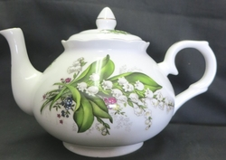 Lily of the Valley Bone China Teapot