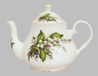"""Lily of the Valley"" Heirloom Bone China Teapot - 6 Cup"