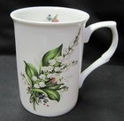Lily of the Valley Fine Bone China Mugs - Set of 4
