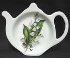 Lily of the Valley Fine Bone China - Tea Bag Holder - Set of 4