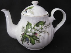 Swirled Lily of The Valley Teapot - 2 Cup