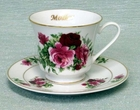 Mother Summer Rose Tea Cup and Saucer Set