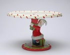 Mrs. Claus Porcelain Cake Stand