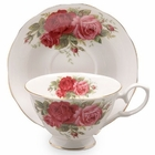 Old Country Rose Teacup and Saucer