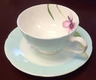 Orchid Blue Tea Cup and Saucer Set
