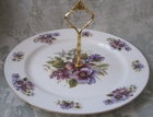 Pansy Bone China - 1 Tier Cake Stand