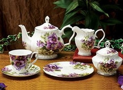 Pansy Bone China Tea Service for 4