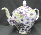Pansy Chintz Tall Teapot