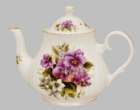 "Berta Hedstrom ""Pansy"" Heirloom Bone China Teapot - 4 Cups"