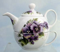 Pansy Tea For One -