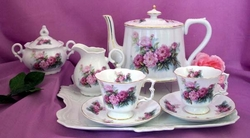 Perfect Pink Peony Porcelain Tea Set