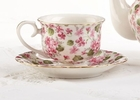 Pink Chintz Tea Cups - Set of 2