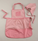Pink Dot Apron - Little Girls Chef's Set