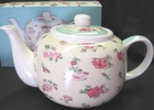 Pink English Garden Bone China Teapot