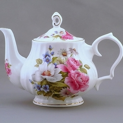 Pink Rose Bone China Teapot