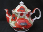 Poppy Chintz Bone China Teapot