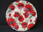 Poppy Dessert Plates - Set of 4