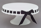 Porcelain Footed Cake Plate - 9 3/4""