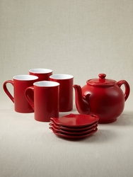 Price Kensington Red Tea Set - 9 Pieces
