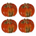 Pumpkin Dessert Plates by Kaldun & Bogle - Set of 4