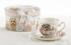 Puppy Loves Cat Tea Cups - Set of 2