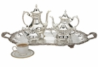 Reed and Barton Loveland Rose Tea Set With Waiter