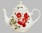 Romantic Rose Heirloom Bone China Teapot - 6 Cup