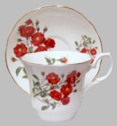 Romantic Rose Heirloom Bone China  Cup and Saucer - 2 Sets