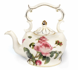 Romantic Rose Porcelain Teapot