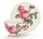 Romantic Rose Teacup and Saucer - 2 Sets