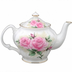 """ Rose Bouquet "" Bone China Tea Pot"