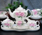 Rose Bouquet Bone China Tea Set 12 piece