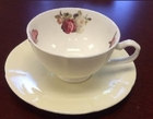 Rose Cream Tea Cup and Saucer - Set of 4