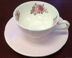 Rose Pink Tea cup and Saucer - Set of 4